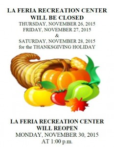 LFIRC Closed for Thanksgiving