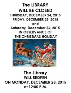 Christmas Closed - LIBRARY